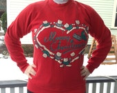"""Fugly Ugly Christmas Holiday Sweater Sweatershirt Women's Small """"Merry Christmas"""""""