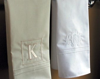 Monogrammed Hand Towel | Personalized Guest Towels | Monogrammed White Towel | 100% Egyptian Cotton Hand Towels | Monogrammed Wedding Gift