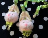 Bunny Rabbit Head Sequin Suspenders