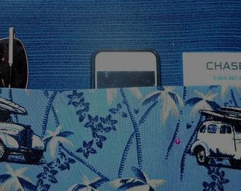 Auto Visor Cover or Organizer, blue car design, 13 x 7, pockets.