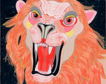 Lion- Large Limited Edition Giclee Art Print