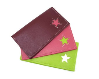 Duplicate Checkbook Cover with Star Design in CUSTOM Colors by Tender Roni *Choose Your Own Colors* Available for Top or Left Tear Checks