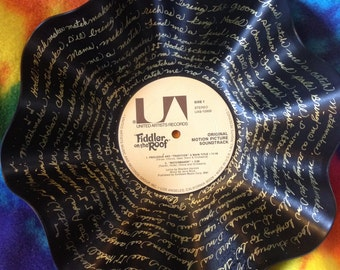 "Fiddler on the Roof  ""Match Maker""  Lyric Record Bowl - (FREE SHIPPING)"