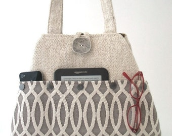 shoulder handbag, fabric tote bag ,beige purse, shoulder bag, fabric handbag, shoulder purse, diaper bag, everyday bag, vegan bag