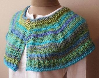 PDF Knitting PATTERN for Springtime Capelet Shoulder Shawl Shawlette Immediate Download