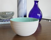 Mint Green Bowl - SHOP SALE Groove Bowl in Mint Green