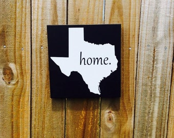 8x8 Texas (all states available) home wood sign, home decor, shabby chic, wall hanging