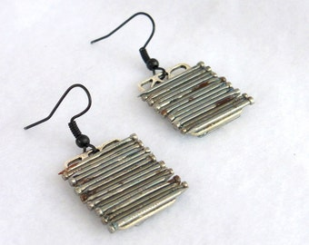 Recycled Earrings, Small Nails SEK101