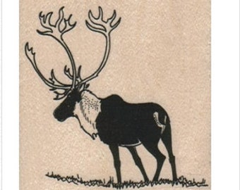rubber stamp Silhouette Caribou   Rubber  Stamp stamping craft supplies 15682 paper craft