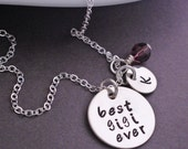Best Gigi Ever Necklace in Sterling Silver, Mother's Day Gift for Gigi, Personalized Gift