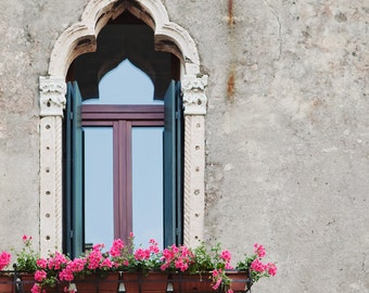 """Venice Photography, Venice Window Photo, Architecture Art, Italy Wall Art, Italy Photography, Gothic Window, """"Gothic Outlook"""""""