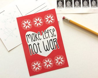 Make Lefse Not War Postcard