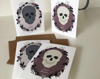 Total Badass - Blank Notecards - 2 Designs - Set of 4 Cards