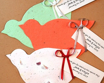 25 Dove Seed Paper Plantable Wedding Favors