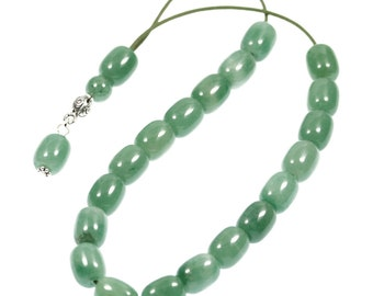 Worry Beads-Greek Komboloi - Aventurine Gemstone - Barrel Shape