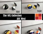 NFL Collection earrings and rings - AFC West Broncos, Chiefs, Raiders, Chargers