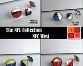 NFL Collection earrings and rings - NFC West Cardinals, Rams, 49ers, Seahawks