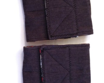 "2 pkg Corduroy Top Dog Belly Band READY to SHIP 9"" waist size x 4"" wide"