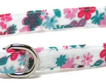 Dog Collar - Festive Floral - Size XS - XLarge (Includes Extra Small, Teacup, Miniature) - Cute, Pretty and Fancy