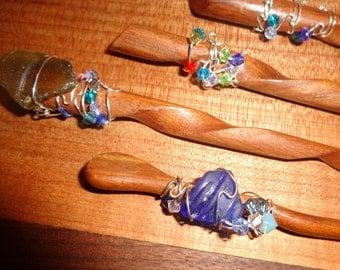 Hair Sticks 2 for 22.00  Fancy Decorative Hair Sticks  / Fancy Shawl Sticks/ Handmade Hair Accessories/Sea Glass/Crystals/Wire