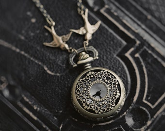 Brass Pocket Watch Necklace number 19