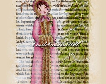 Jane Austen Christmas - Persuasion - Anne Elliot - 5 x 7 print