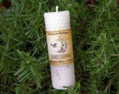 Aura Cleanse Rolled Beeswax Spell Candle - Purifying, Removing Negative Energies or Vibrations, Peace, Spiritual Well Being