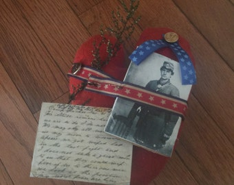 Primitive Doll,  Valentine Civil War Love Letter