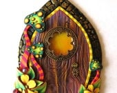 Toadstool Fairy Door, Miniature Pixie Portal, Home and Garden Decor, Polymer Clay Door, Tooth Fairy Entrance