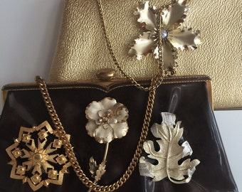 Two Purses for the Price of One bejeweled vintage embellished brown gold wedding spring autumn