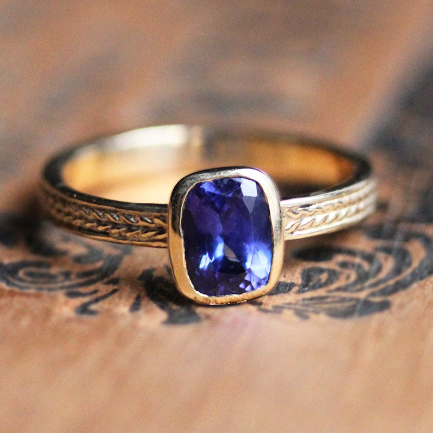tanzanite ring gold tanzanite engagement ring braided ring. Black Bedroom Furniture Sets. Home Design Ideas