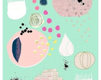 Abstract Contemporary Art Print A4