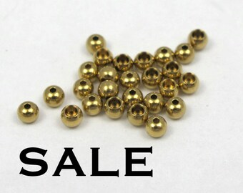 Vintage Gold Plated Beads (200X) (B558) SALE - 25% off