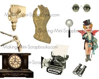 Printable Steampunk Collage Sheet