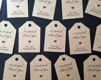 Cute Mini Kraft Favor Tags
