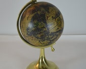 vintage brass globe bookend library desk office decor