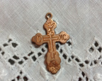Vintage Copper Cross. NOS. Two.