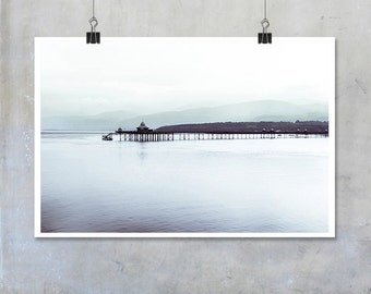 Bangor Pier sea calm smooth winter Wales 12x8 18x12 20x30 20x16 photographic wall art home decor photo big print poster display
