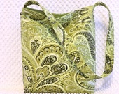 Green Floral Paisley Hobo Bag Purse - Handmade Paisley Handbag - Ladies Shoulder Bag - Everyday Bag - BizzieLizzieHandmade Bags on Etsy