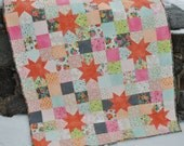 PDF Baby Quilt and Lap Quilt Pattern, ....Quick and Easy, Charm Squares, Layer Cakes or Fat Quarters, Starry Night