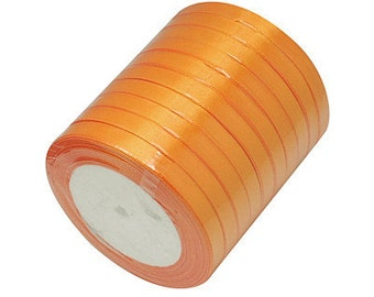 Wholesale 10 ROLLS 6mm Orange satin ribbon-7788B