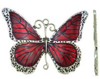 1pc antique silver with Enamel Butterfly Pendant-2380A