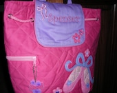 Personalized Stephen Joseph Quilted Back Pack Ballet by Never Felt Better