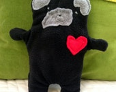 Pearl ~ The Black Pug Bummlie ~ Stuffingless Dog Toy ~ Ready To Ship Today