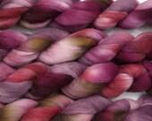 Handpainted Falkland Wool Roving in Cabernet by Blarney Yarn