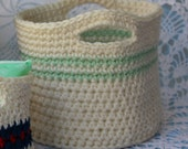 Crochet Pattern for Large Basket with Handles Organizing Basket Pattern Baby Shower Gift Bridal Gift No. 81
