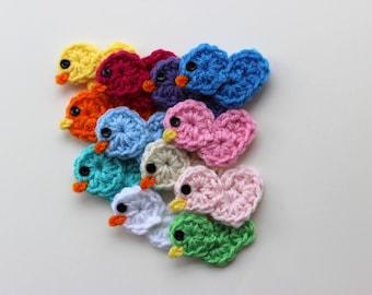 Crochet Rubber Ducky Applique Little Chicken Crochet Pattern Easy Picture Tutorial  No. 89