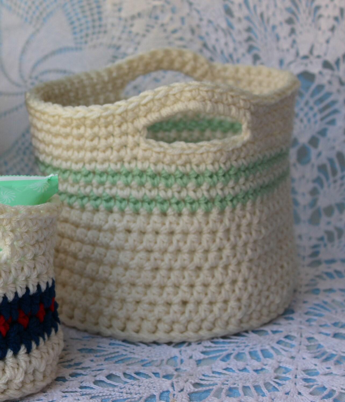 Free Crochet Pattern For Large Basket : Crochet Basket Pattern Crochet Pattern for Large Basket with