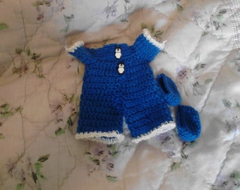 Blue Pajama For 6.5in Curly Girl dolls