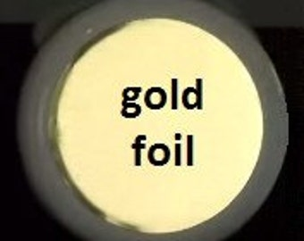 Gold foil - Labels/Stickers - color laser printing - custom made - 2 sheets - Round 1.5 inch